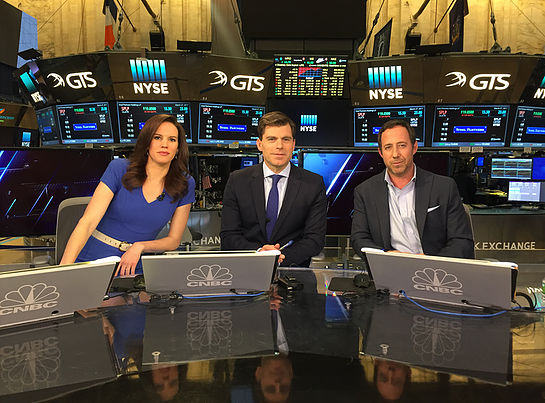 Michael at CNBC studio
